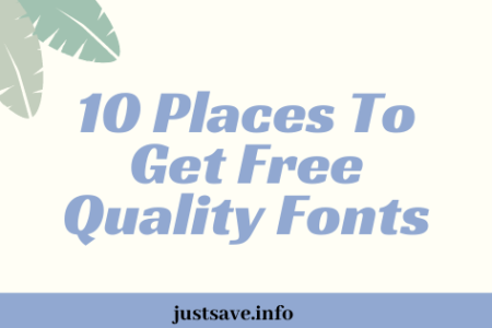 10 Places To Get Free Quality Fonts